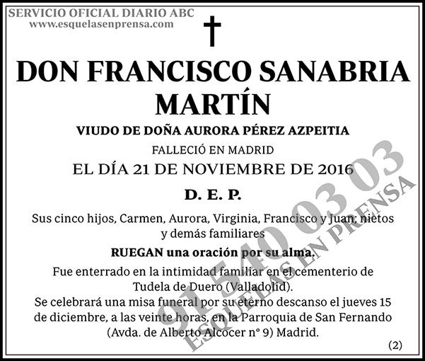 Francisco Sanabria Martín